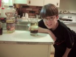 Nathaniel learning about density